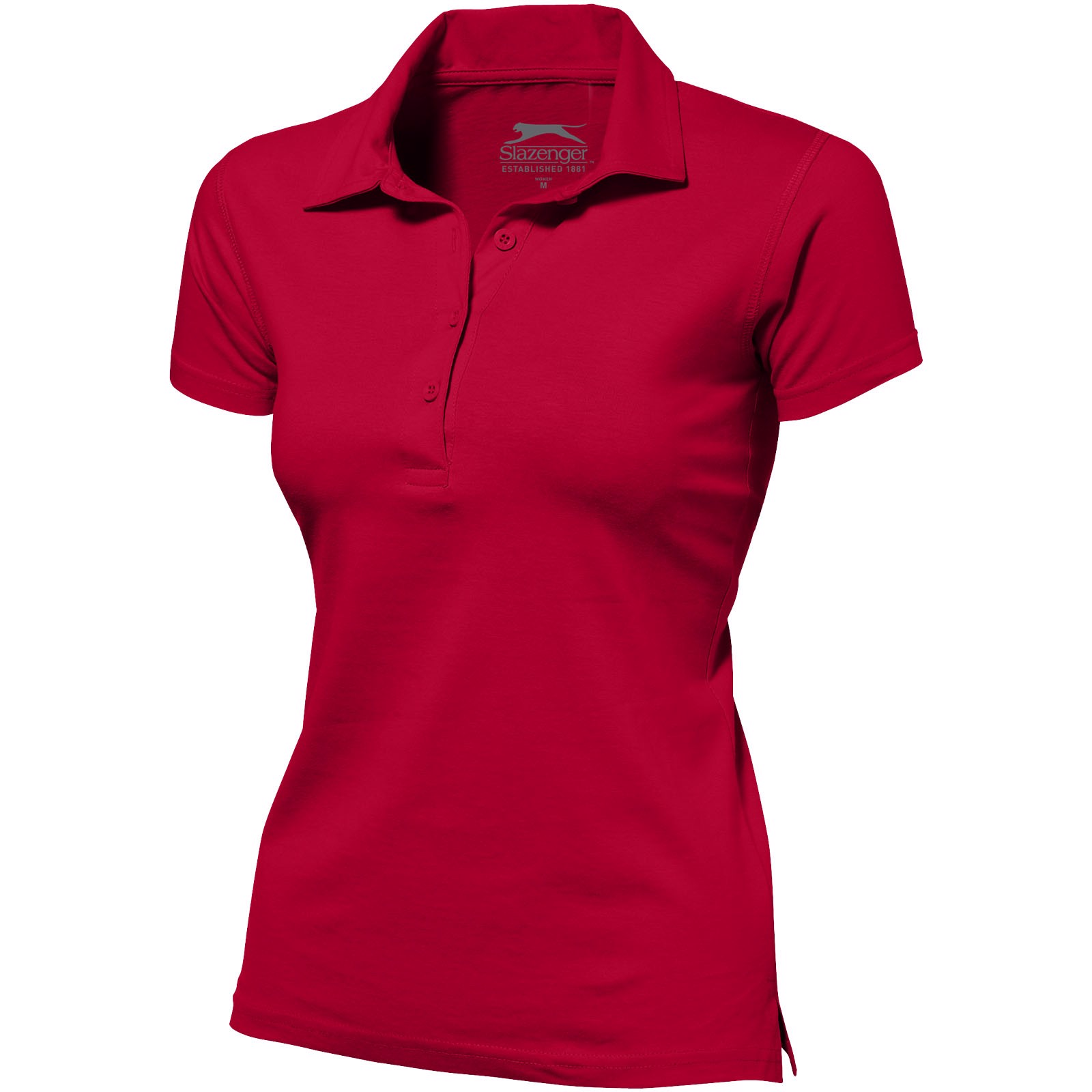 Let short sleeve women's jersey polo - Red / XXL