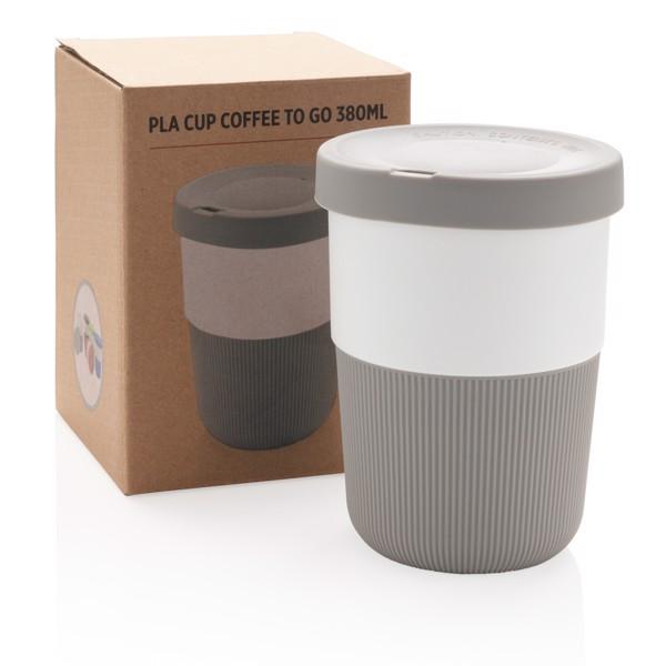 PLA hrnek coffee to go 380ml - Šedá