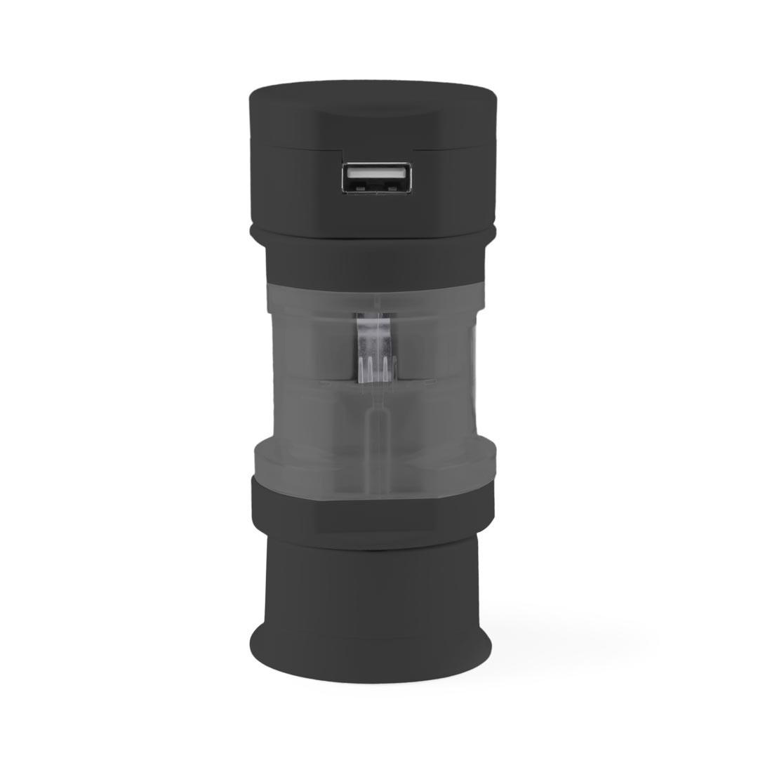 Adaptador Enchufes Tribox - Negro