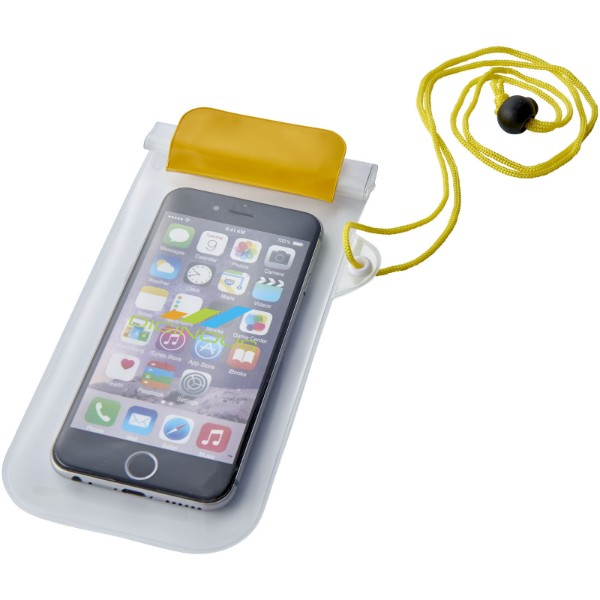 Mambo waterproof smartphone storage pouch - Yellow