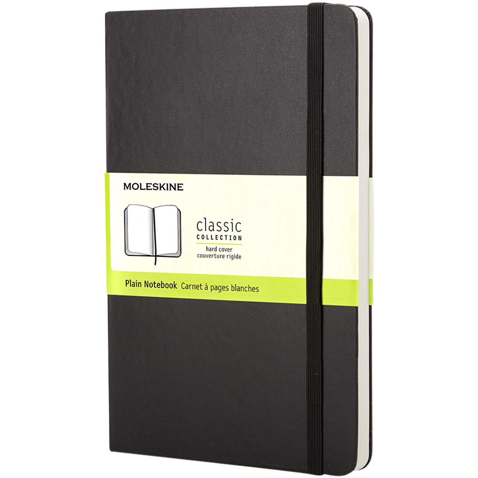 Classic PK hard cover notebook - dotted - Solid black