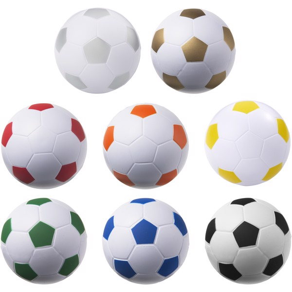 Fußball Antistressball - gelb / weiss