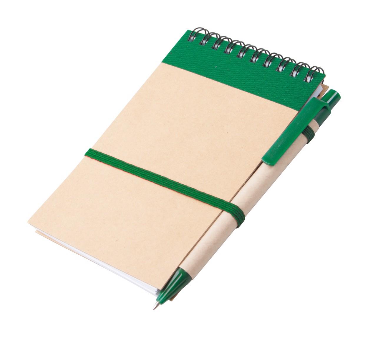Blok Ecocard - Zelená / Přírodní