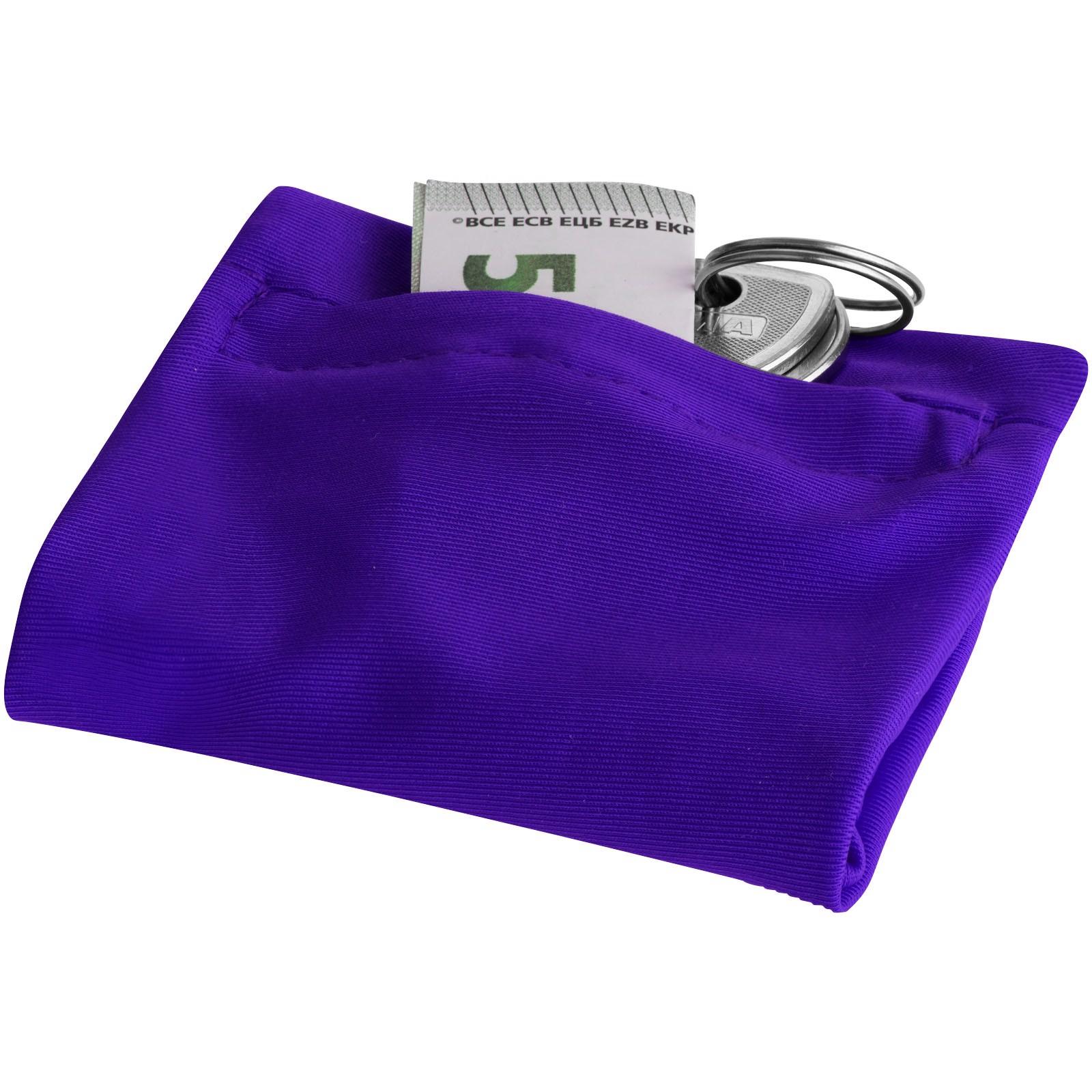 Squat Armband mit Reißverschlusstasche - Lila