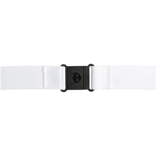 Yogi lanyard detachable buckle break-away closure - White