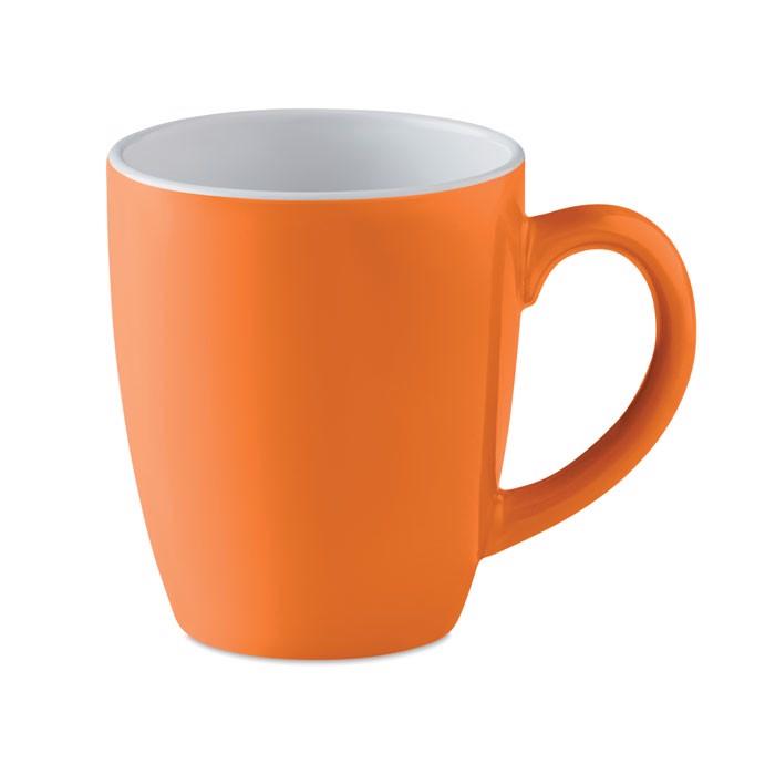 Kolorowy kubek ceramiczny Colour Trent - pomarańczowy