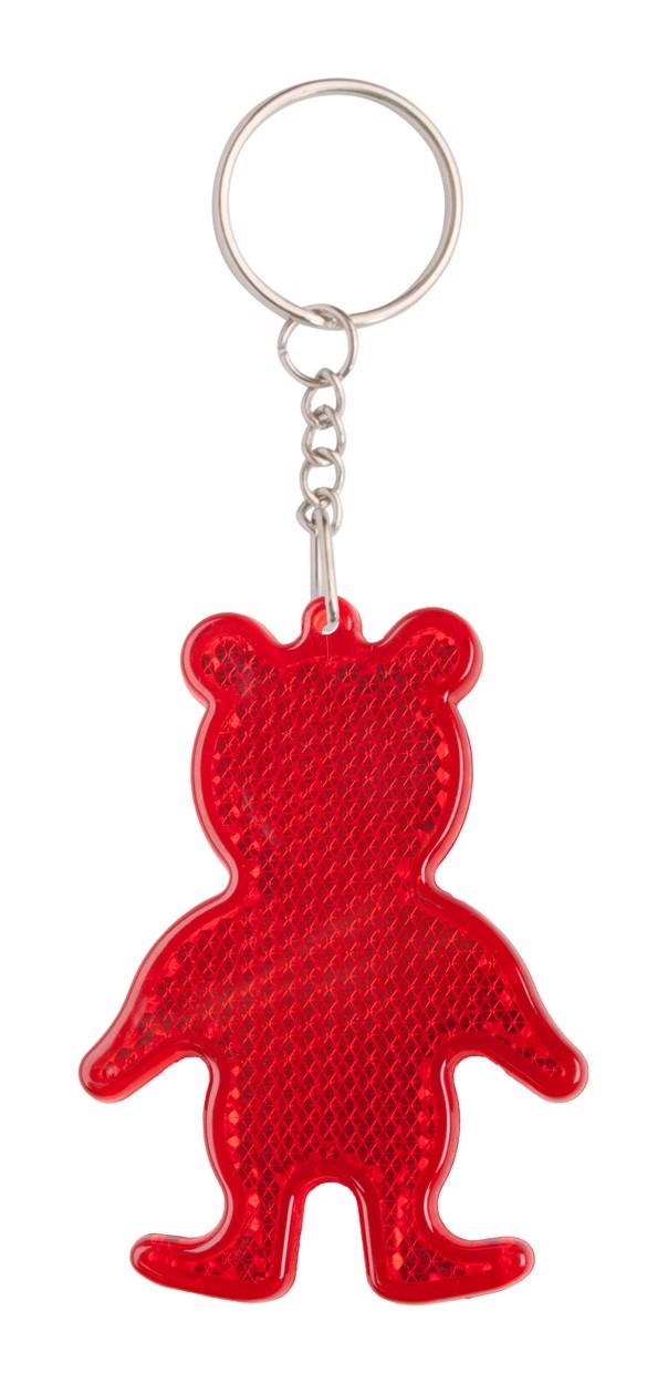 Přívěšek Na Klíče - Odrazka Safebear - Červená