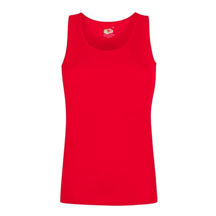 Damen T-Shirt Sport Lady-Fit Vest 61-418-0 - Red / XS
