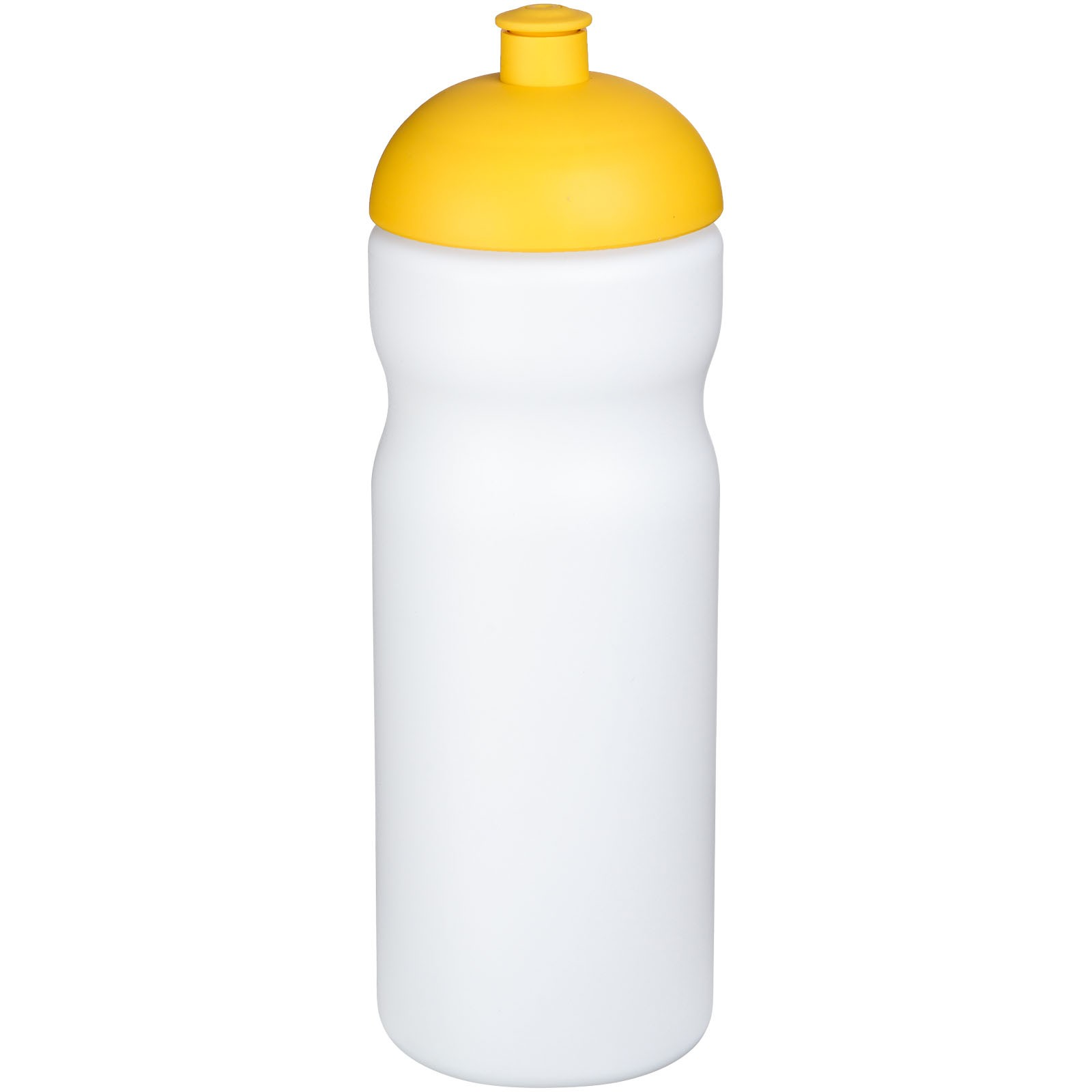 Sportovní láhev s kupolovitým víčkem Baseline® Plus 650 ml - Bílá / Žlutá