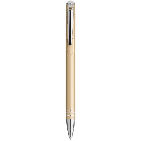 Izmir ballpoint pen with knurled pusher - Champagne