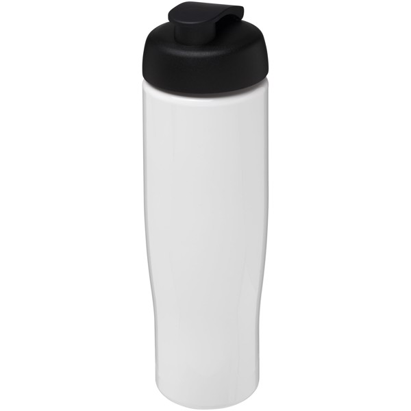 H2O Tempo® 700 ml flip lid sport bottle - White / Solid black