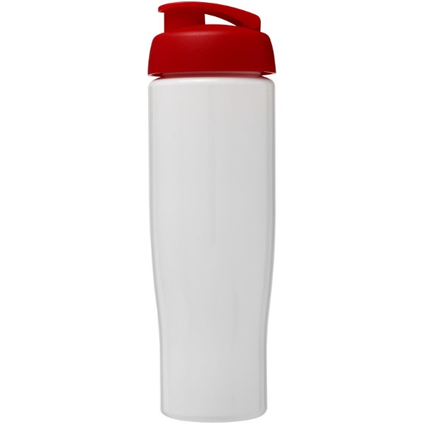 Sportovní láhev s vyklápěcím víčkem H2O Tempo® 700 ml - Bílá / Červená s efektem námrazy