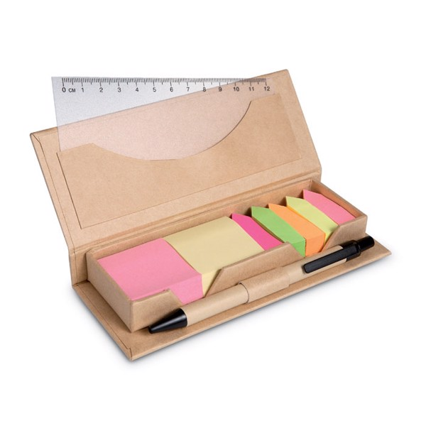Desk set in brown paper box Stibox