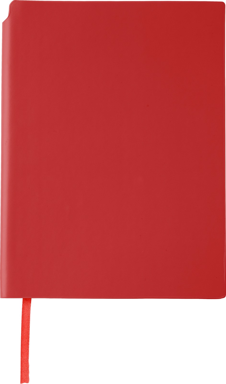 A5 Notebook with pen holder - Red
