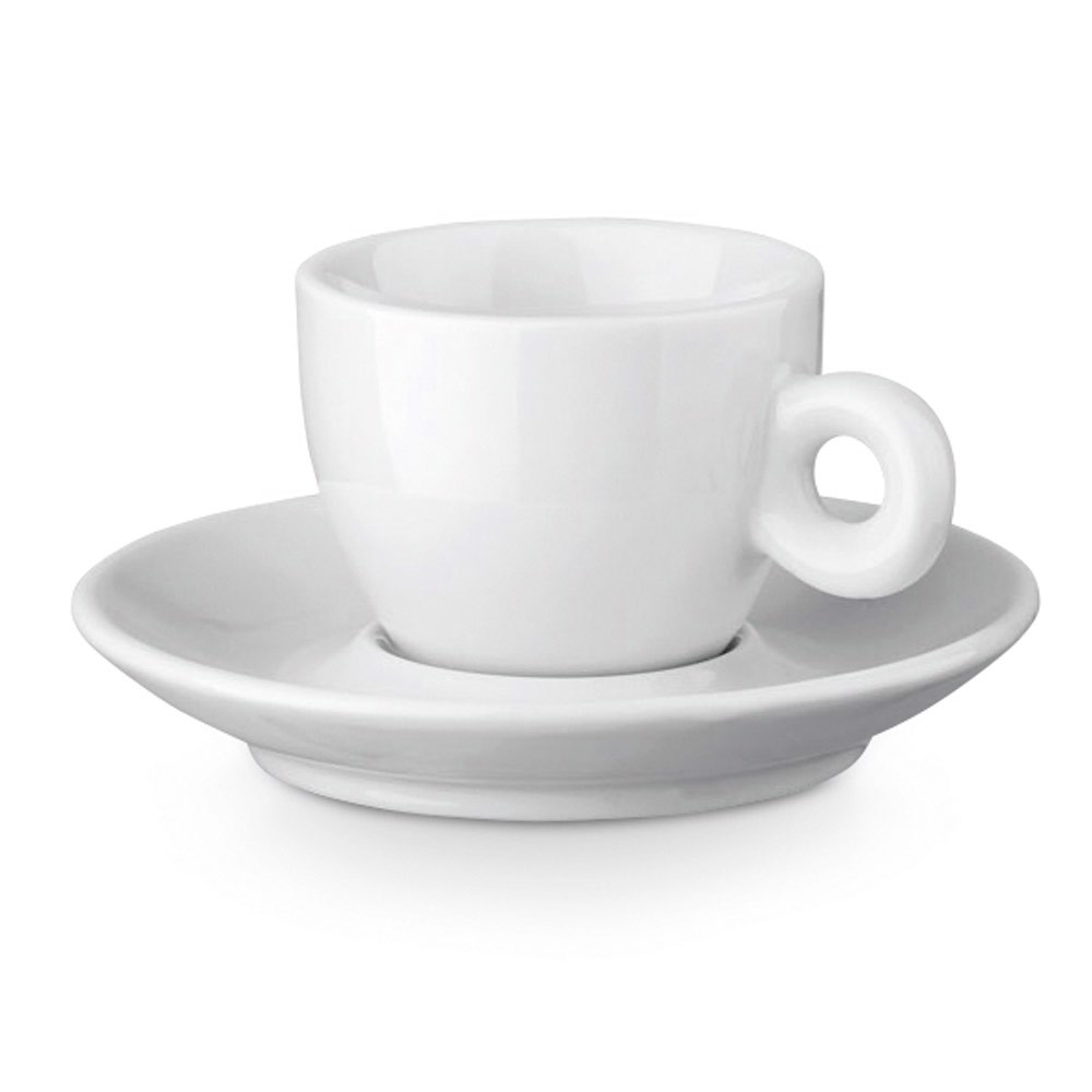 PRESSO. Ceramic coffee cup and saucer