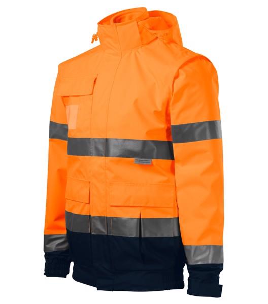 Bunda unisex Rimeck HV Guard 4 in 1 - Fluorescenční Oranžová / 4XL