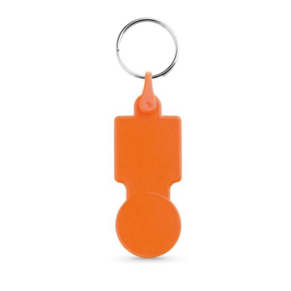 SULLIVAN. Μπρελόκ σε σχήμα νομίσματος για το καρότσι του σούπερ μάρκετ - Πορτοκάλι