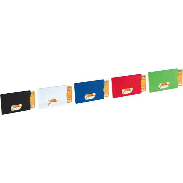 Ochrana pro RFID karty - Červená s efektem námrazy