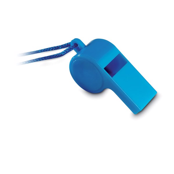 Whistle with security necklace Referee - Blue