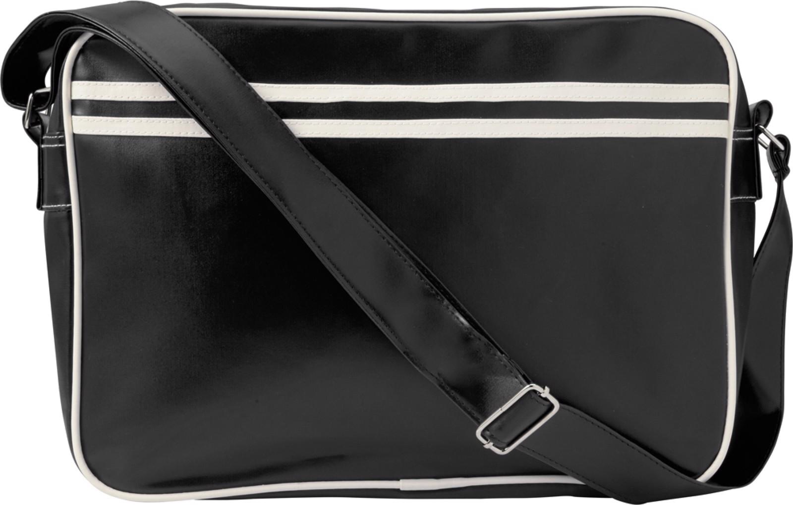 PVC messenger bag - Black