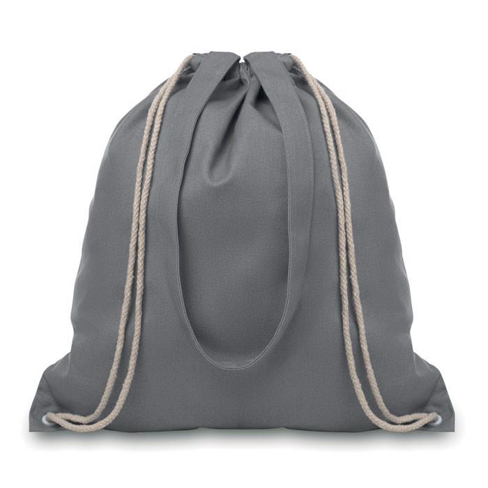 Drawstring and handles bag Moira - Grey