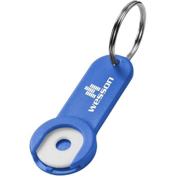 Klíčenkový držák na žeton Shoppy - Světle modrá