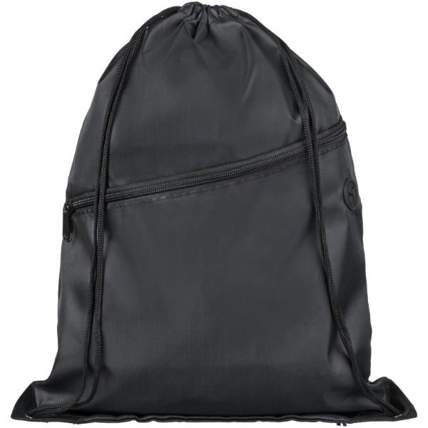 Oriole šňůrkový batoh se zipem - Černá