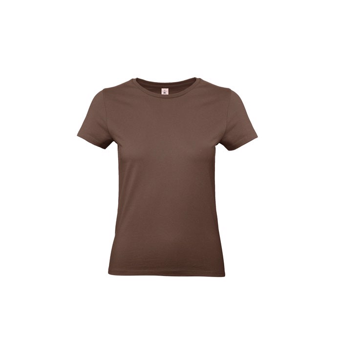T-shirt female 185 g/m² #E190 /Women T-Shirt - Chocolate / XL