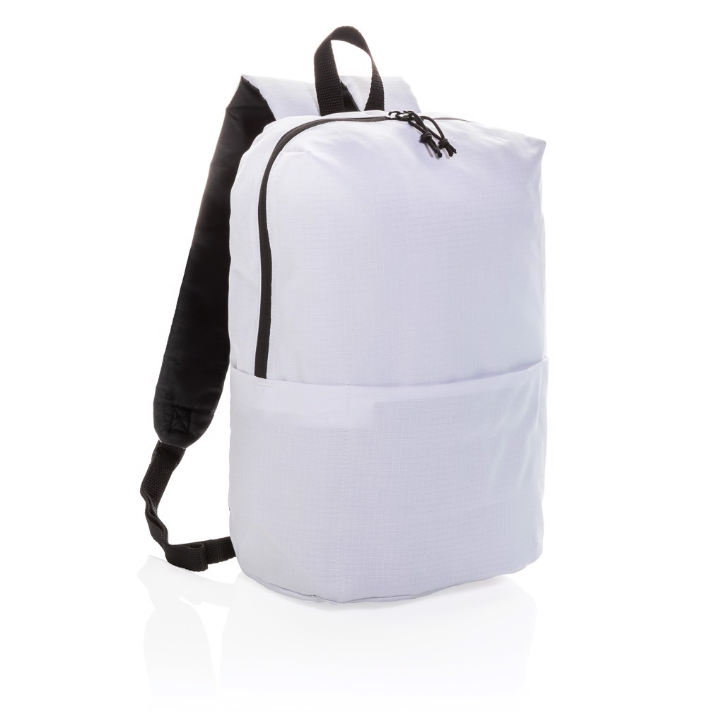Casual backpack PVC free - White