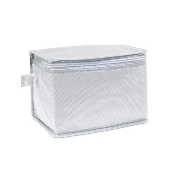 Chladící taška na 6 plechovek Promocool - white
