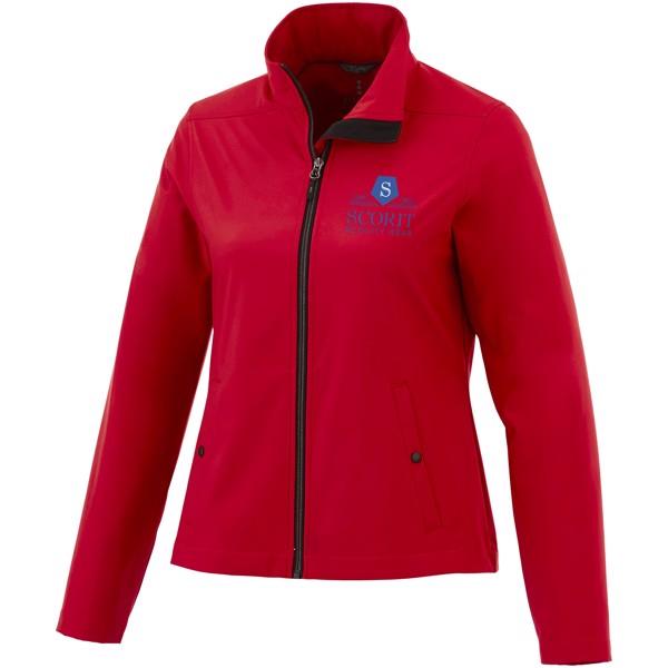 Dámská softshellová bunda Karmine, vlastní soukromá značka - Červená s efektem námrazy / L