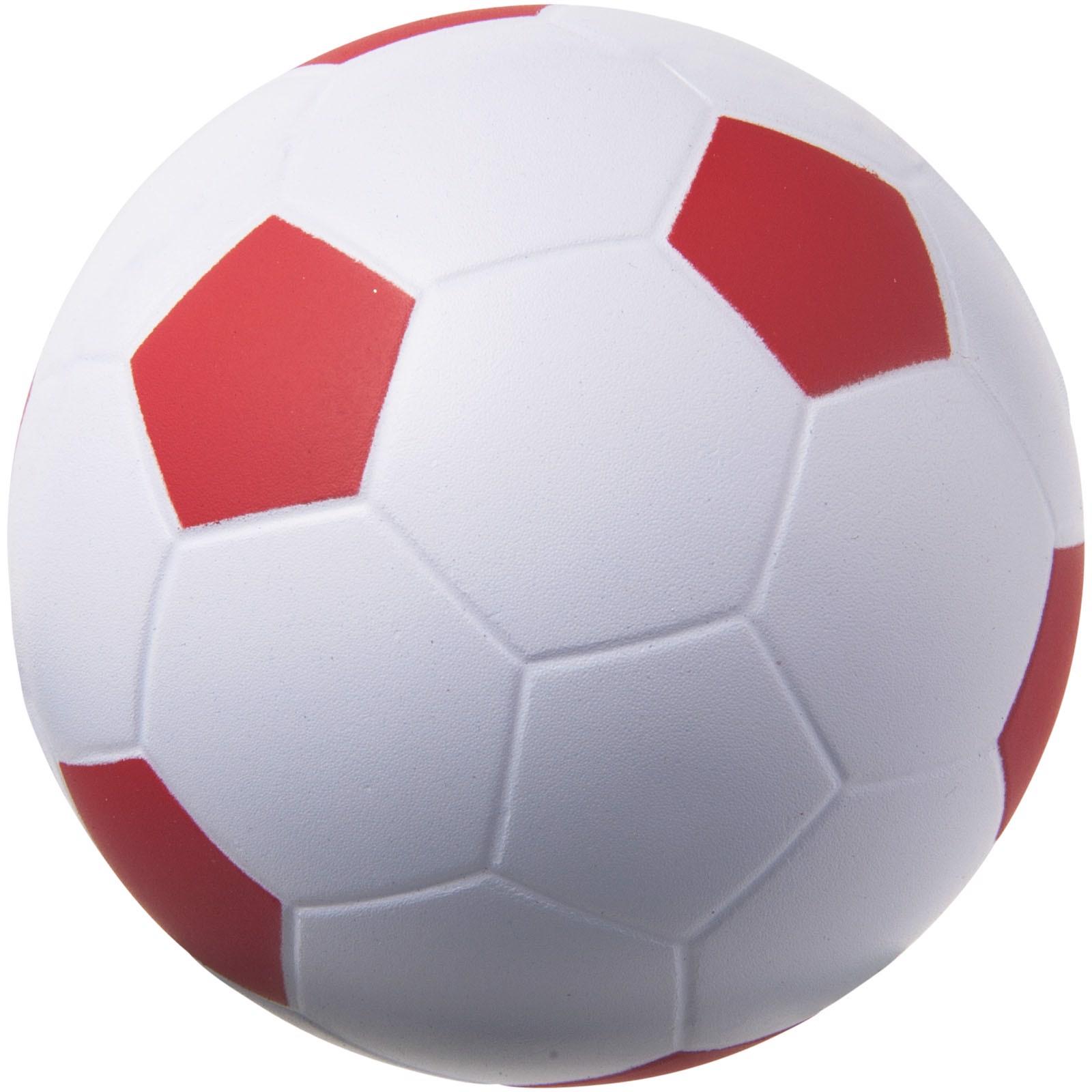 Antistresový míč Football - Červená s efektem námrazy / Bílá