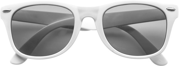 PC and PVC sunglasses - White
