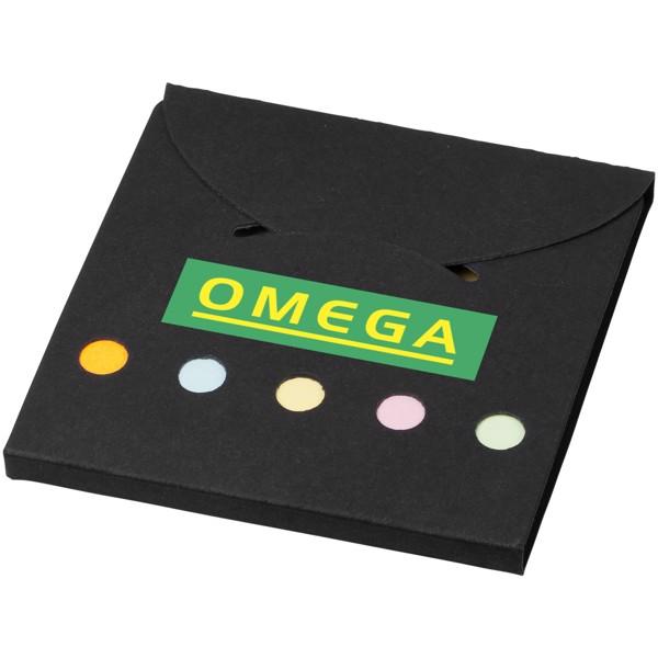 Sada barevných lepicích poznámkových bločků Deluxe - Černá