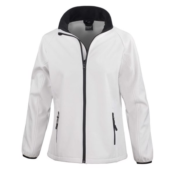 Damen Soft Shell 280 g/m2 Soft Shell Jacket Ladies R231f - White / M