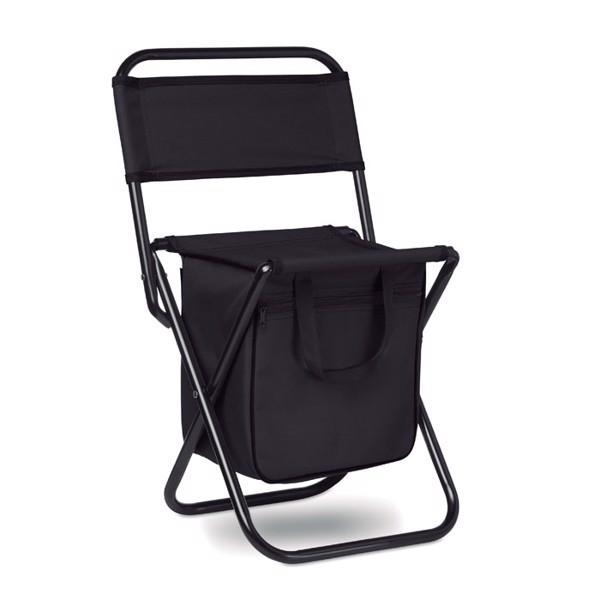 Összehajtható szék + hűtőtáska Sit & Drink - fekete