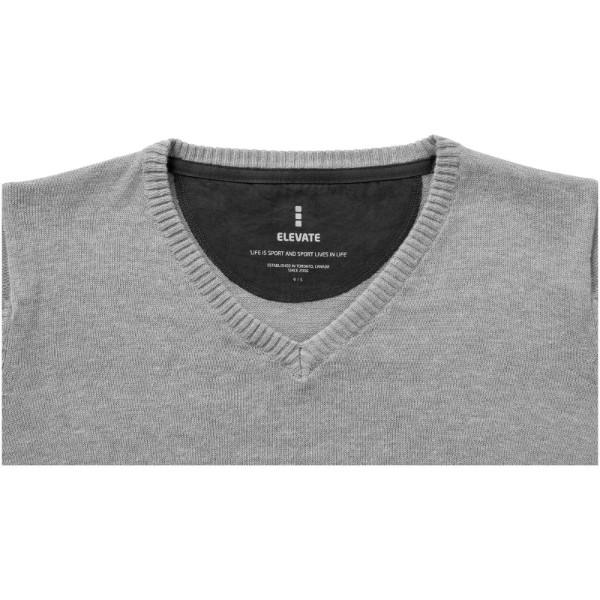 Spruce ladies V-neck pullover - Grey melange / XS