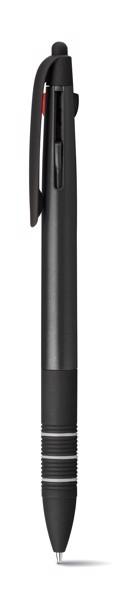 MULTIS. Multifunkční kuličkové pero s nápisem 3 v 1 - Černá