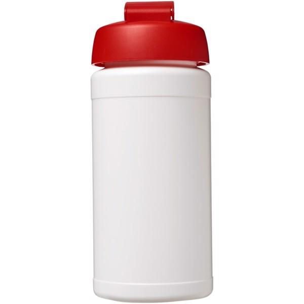 Sportovní láhev s vyklápěcím víčkem Baseline® Plus 500 ml - Bílá / Červená s efektem námrazy