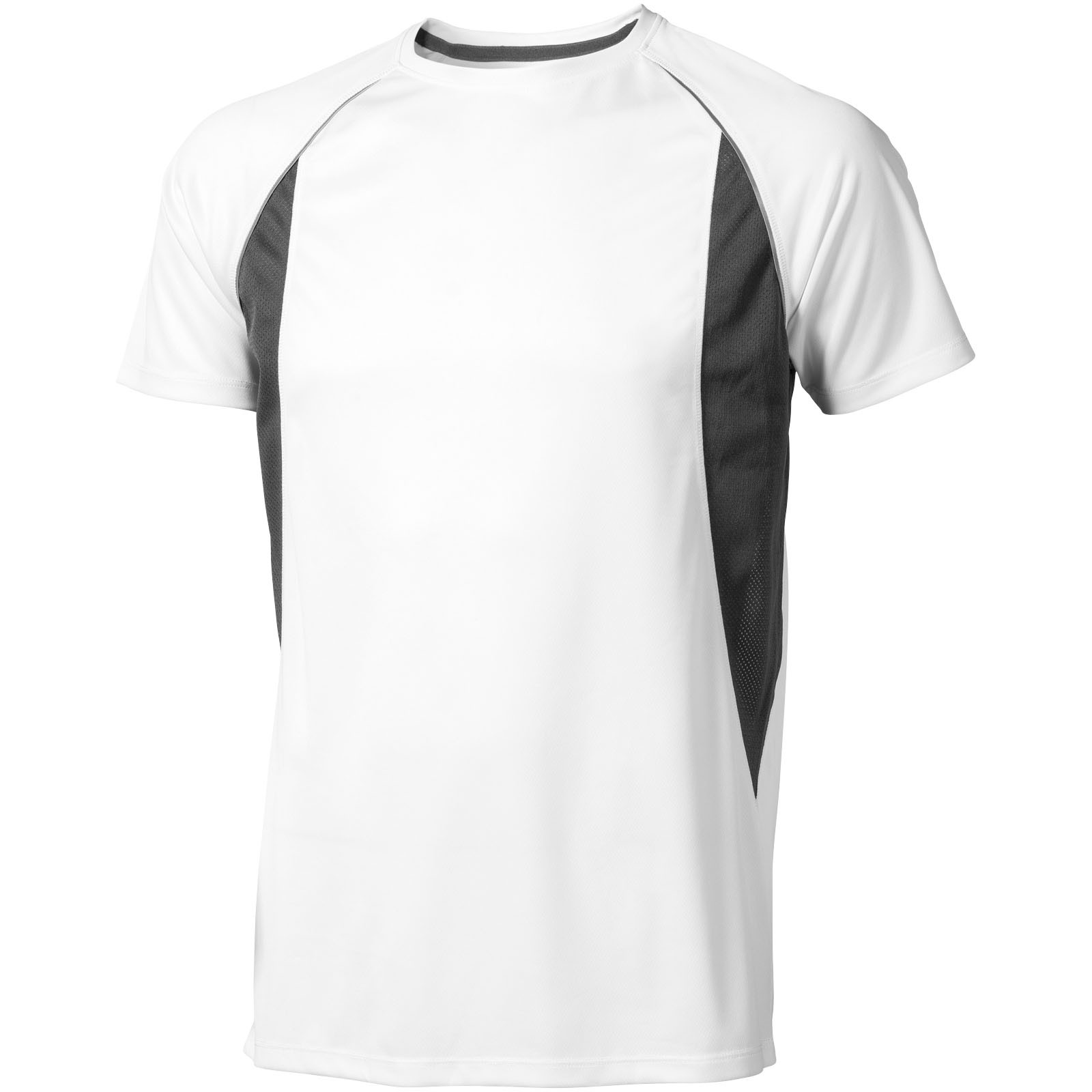 Quebec short sleeve men's cool fit t-shirt - White / Anthracite / XS