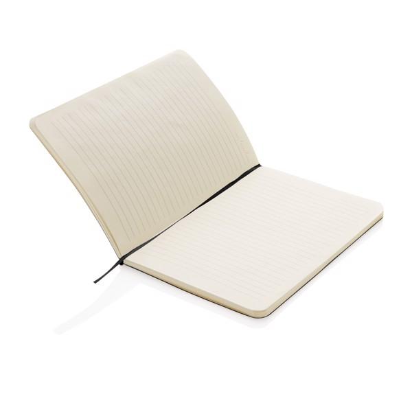 Standard, rugalmas, puhafedelű jegyzetfüzet - Fekete