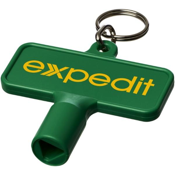 Maximilian obdélníkový montážní klíč s klíčenkou - Zelená