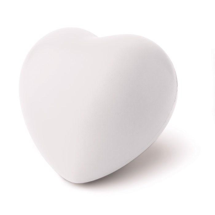 Anti-stress heart PU material Lovy - white