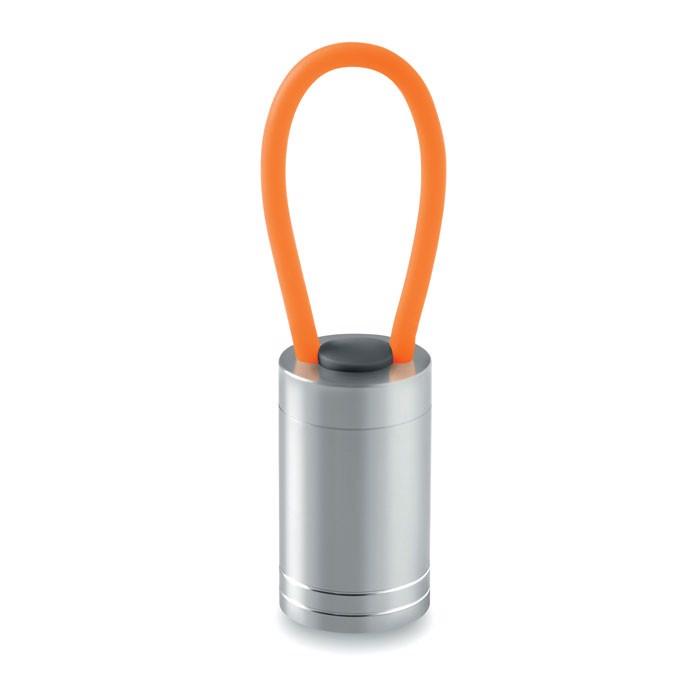 Aluminium torch glow in dark Glow Torch - Orange