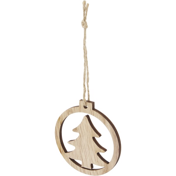 Natall wooden tree ornament