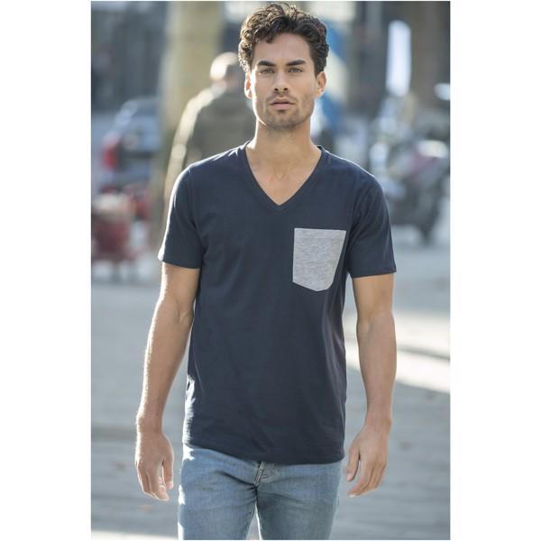 Gully T-Shirt mit Tasche für Herren - Navy / Sportgrau / M