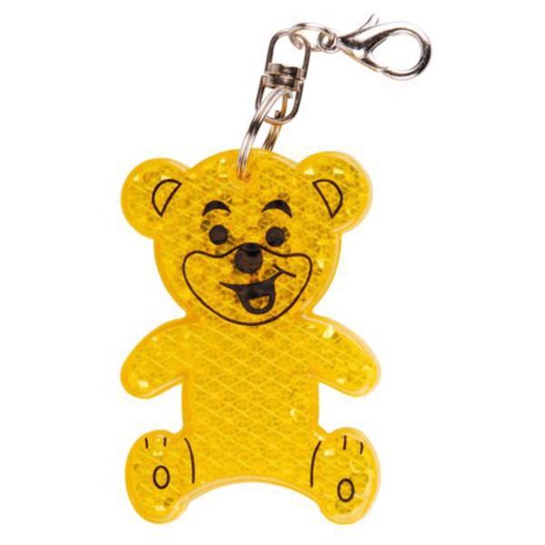 Brelok odblaskowy Teddy - Żółty