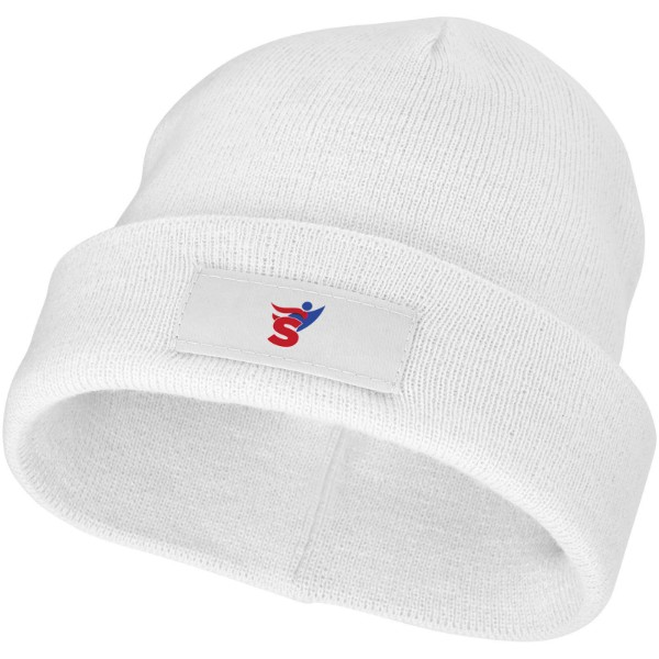 Boreas beanie with patch - White