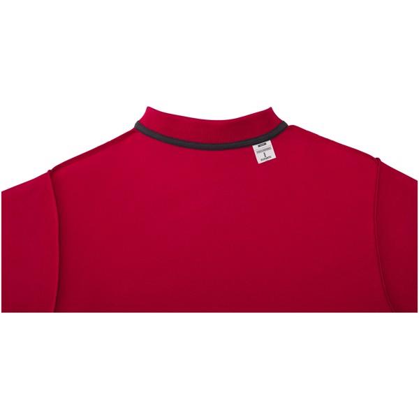 Pánská polokošile s krátkým rukávem Helios - Červená s efektem námrazy / XXL