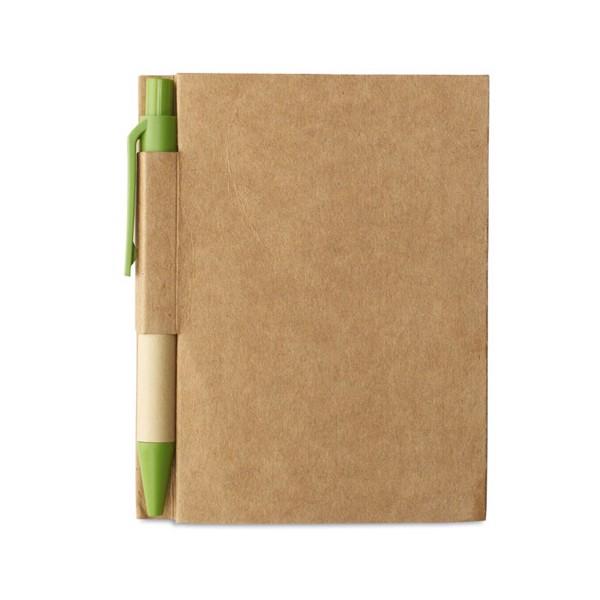 Környezetbarát jegyzetfüzet Cartopad - banánzöld